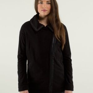 Lululemon Women's Black Fleece Moto Jacket Size 8